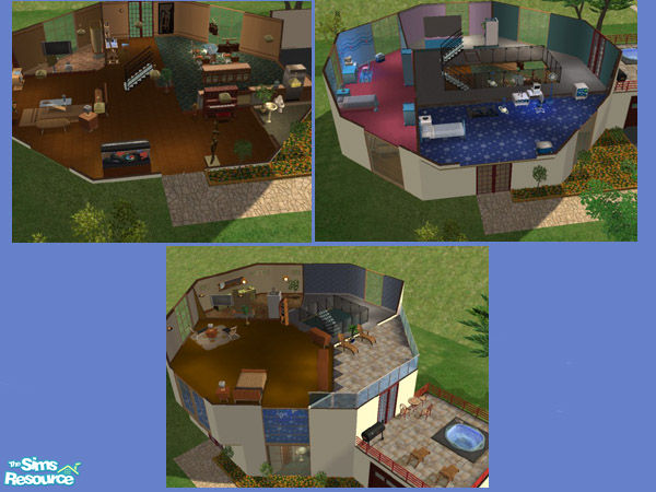 stickysyrup07's Three Story Modern Octagon House