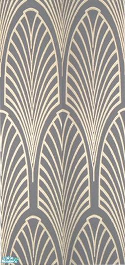 debs913s Laura Simly Designs Art Deco Wallpaper Silver Fans