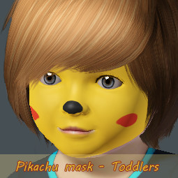Pikachu Face Paint http://www.thesimsresource.com/members/Jennice25/downloads/details/category/sims3-makeup-costumemakeup-facepainting/title/pikachu-mask--toddlers/id/1064341/