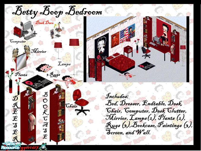 frogger1617 39 s betty boop bedroom set
