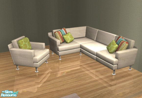 Mirake39s sectional sofa recolors white multi for Sectional sofa sims 3
