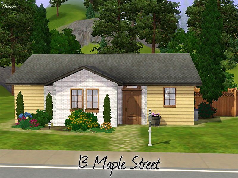 Tsr olcia olivinea for Minimalist house the sims 3