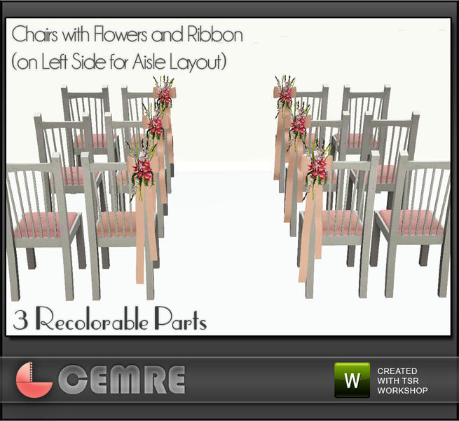 Wedding Altar Sims 3: Cemre's Lily Wedding Set Chair With Flowers (left
