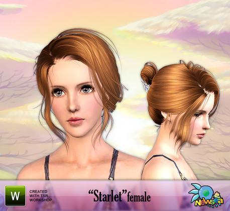 Звездная женская прическа от NEWSEA для Sims3.