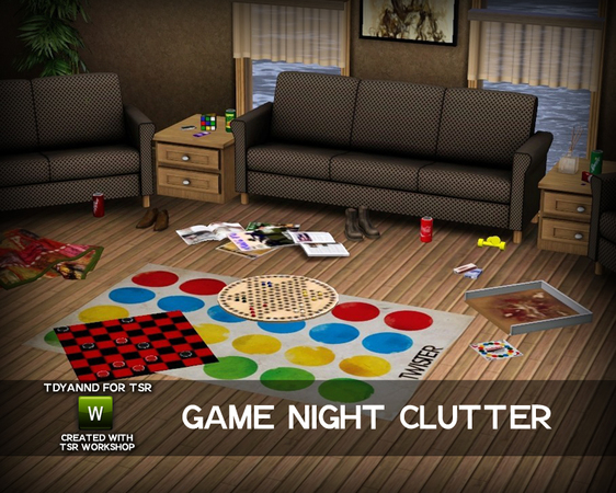 Empire Sims 3 Game Night Clutter By Tdyannd Tsr Free