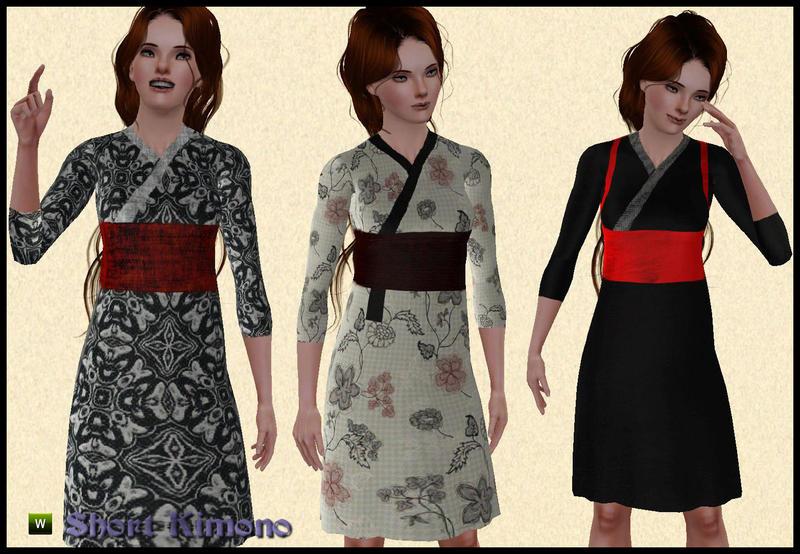 Японское Платье Для Симс 3 39