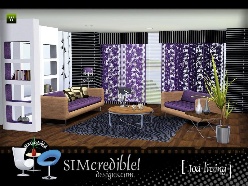 Мебель Joa Living Room by SIMcredible!