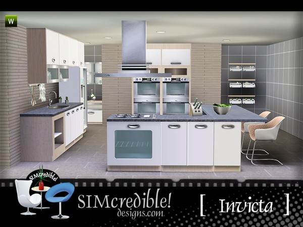 Empire sims 3 invicta kitchen by simcredible tsr for Sims 3 kitchen designs