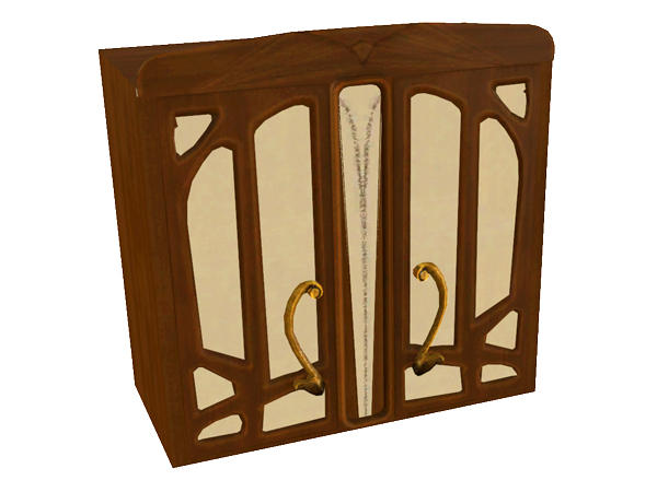 shinokcr 39 s art nouveau kitchen cabinet w glassdoors