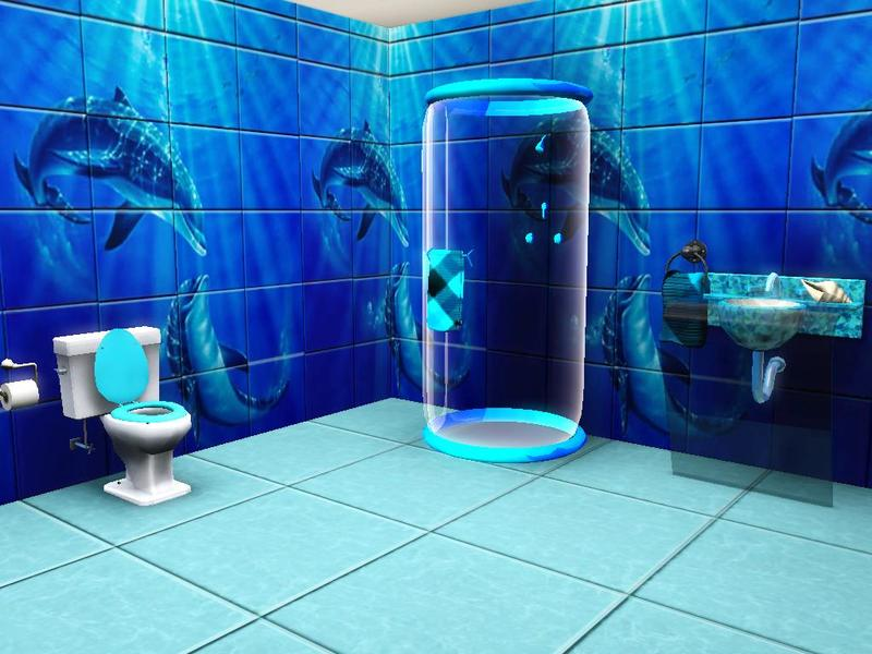 Dolphin mural bathroom tiles images frompo for Bathroom mural tiles