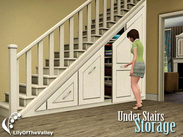 Empire Sims 3: Under Stairs Storage By LilyOfTheValley