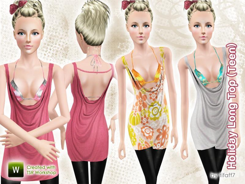 Holiday Long Top - Teen by  tifaff72