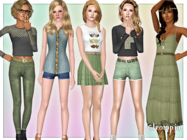 Vintage Hipster Summer Inspired Set by Cleotopia