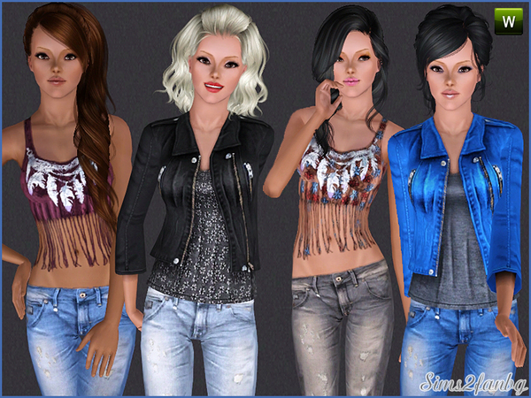 242 Casual set by sims2fanbg