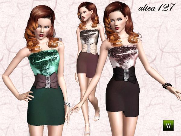 dress with belt by altea127