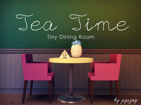 Empire sims 3 tea time tiny dining room by pyszny16 free for Sims 3 dining room ideas