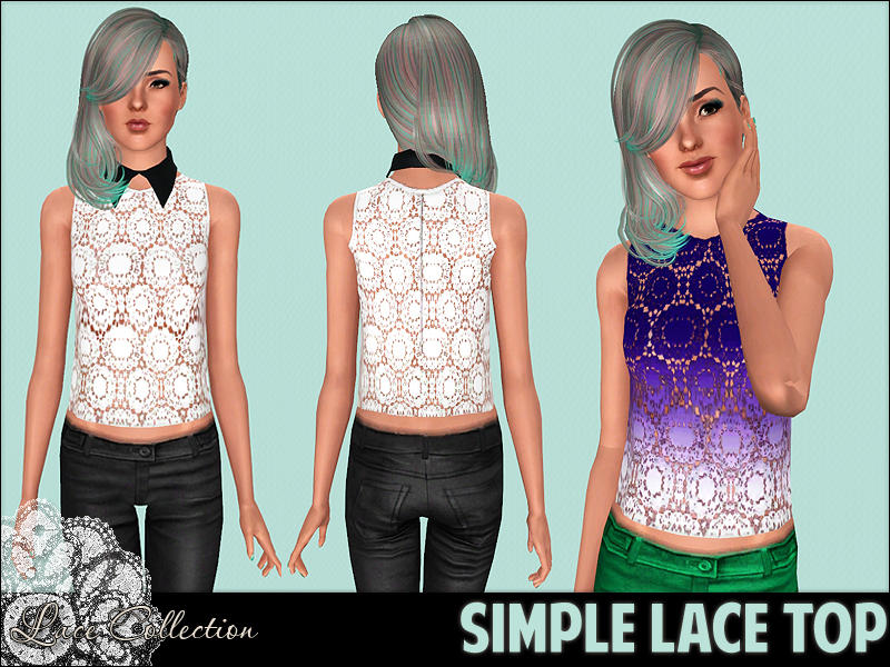 LC Simple lace top by Sunny13