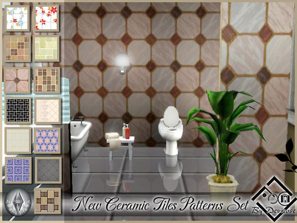 New Ceramic Tiles Patterns Set by Devirose
