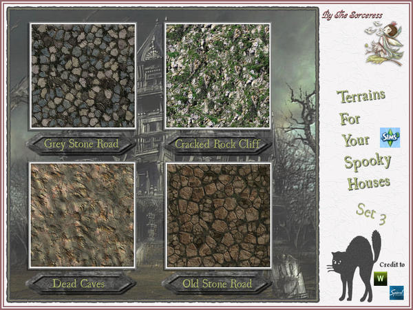 Terrains for Spooky Houses Set 3 by thesorceress