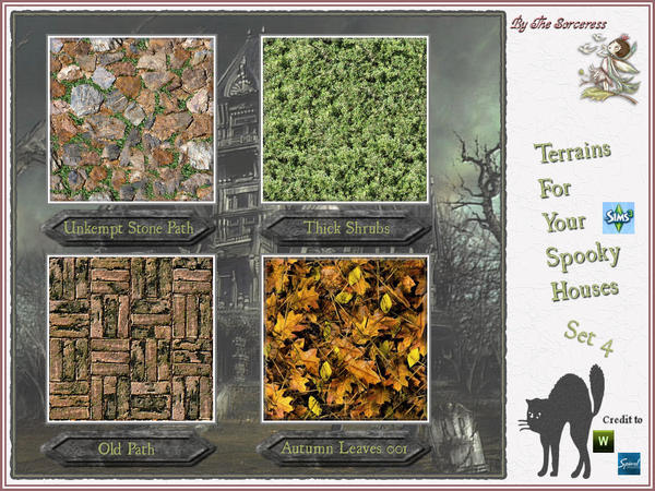 Terrains for Spooky Houses Set 4 by thesorceress