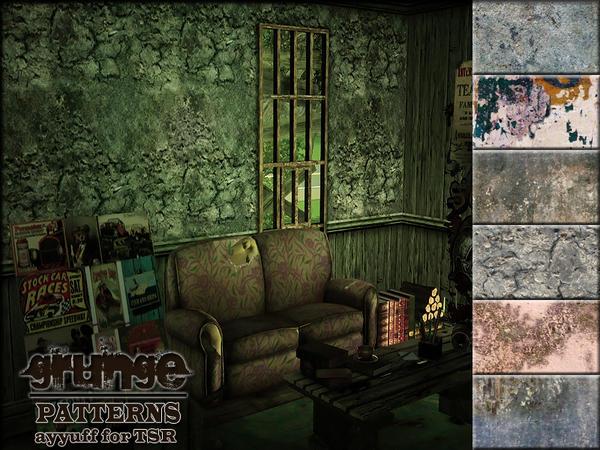 Empire Sims 3: Grunge Patterns TSR by ayyuff