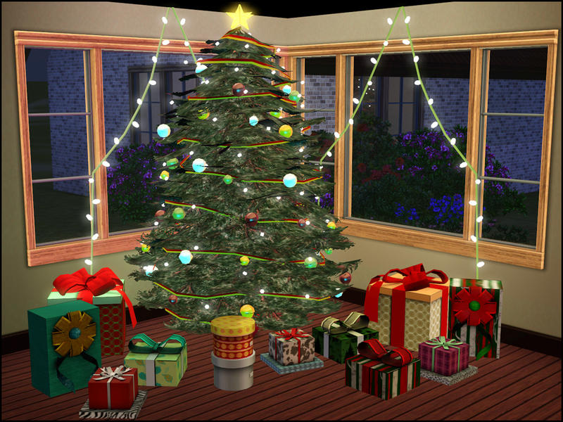 Christmas Decor Sims 3 : Sim man s christmas tree
