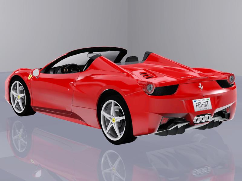 Машина 2013 Ferrari 458 Spider от Fresh-Prince