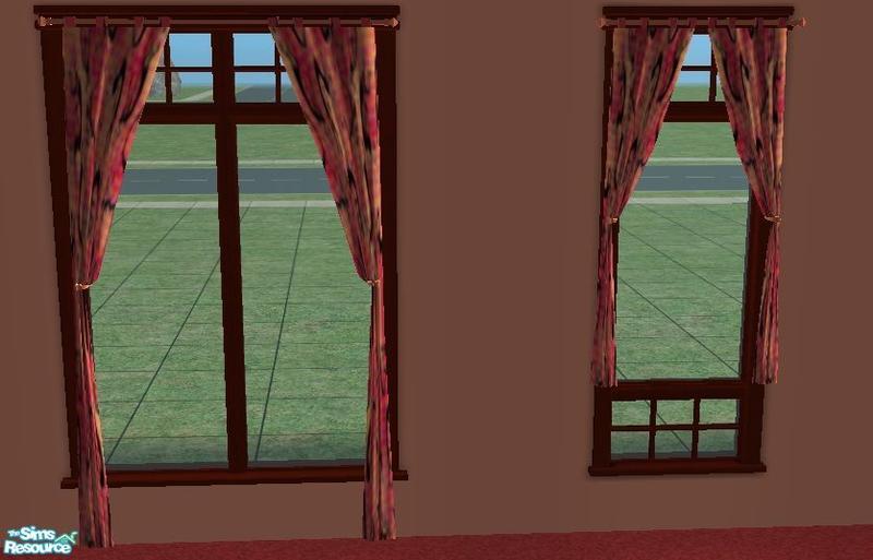 Resa2169 39 S Orange Southwestern Style Curtains