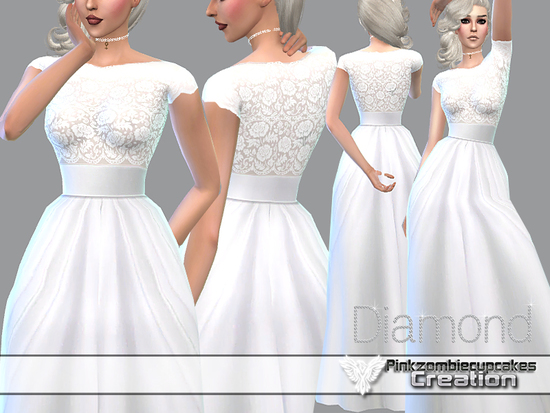Pinkzombiecupcakes Pzc Diamond Wedding Gown