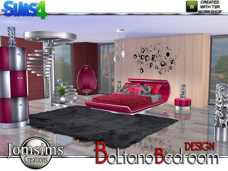 Jomsims 39 boltano design bedroom for Bedroom designs sims 4