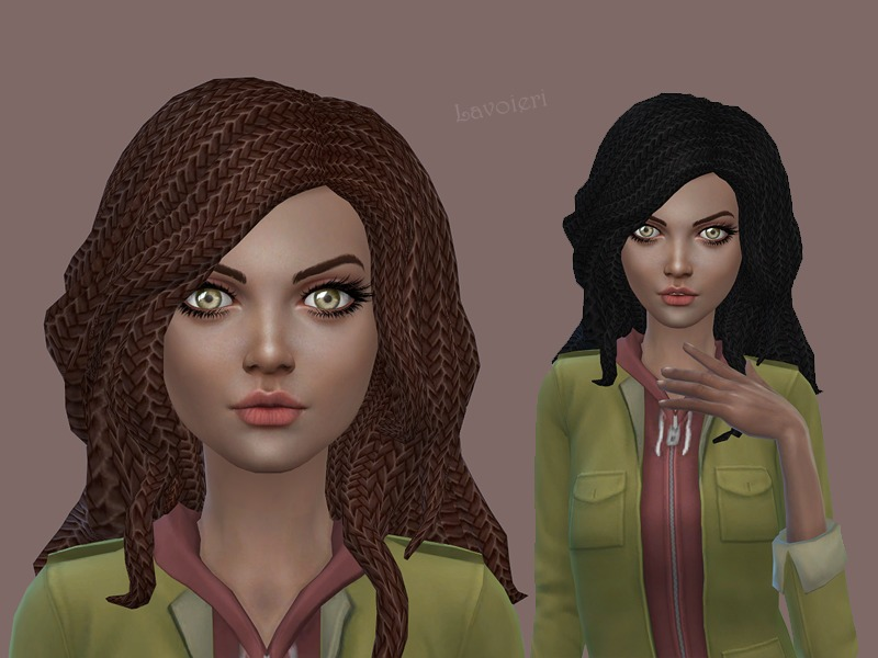 Hairstyles Braids Download: Lavoieri's Braided Hair Retexture 1