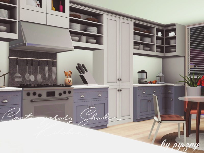 Pyszny16 39 s contemporary shaker kitchen for Contemporary shaker style kitchen