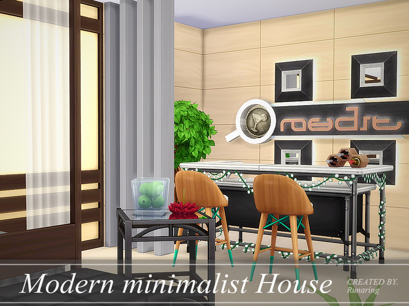 Modern minimalist house no cc the sims 4 download for Minimalist no house