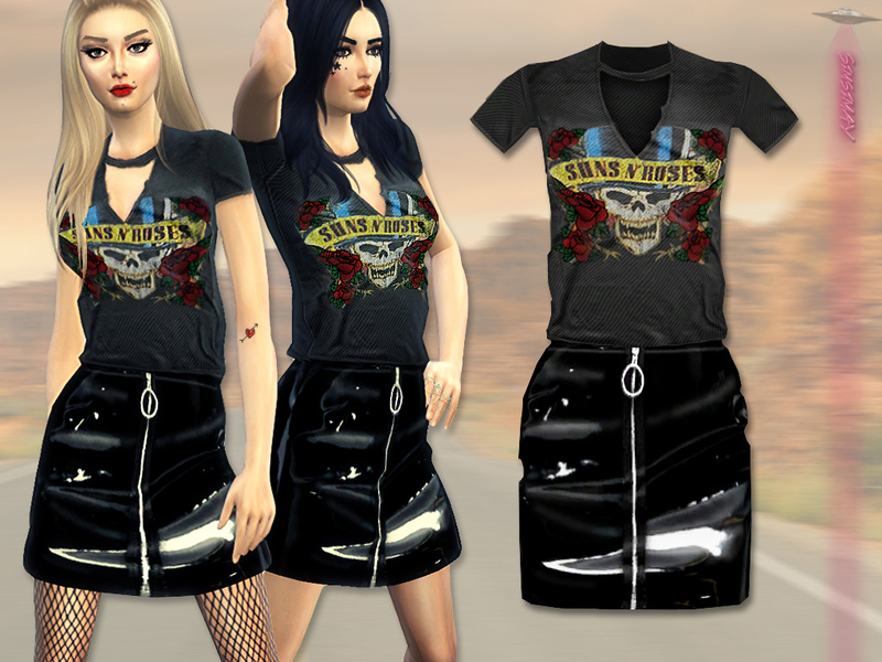Extrêmement Sims 4 Clothing sets - 'grunge' TS87