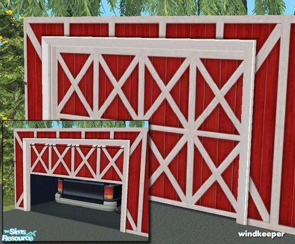 Flat Garage Door   Barn Red