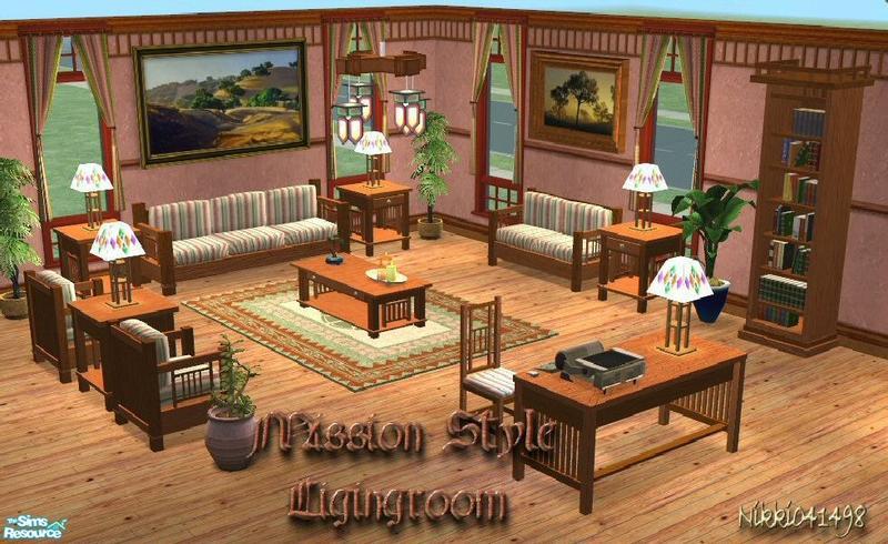 Nikki041498 39 S Mission Style Livingroom Set