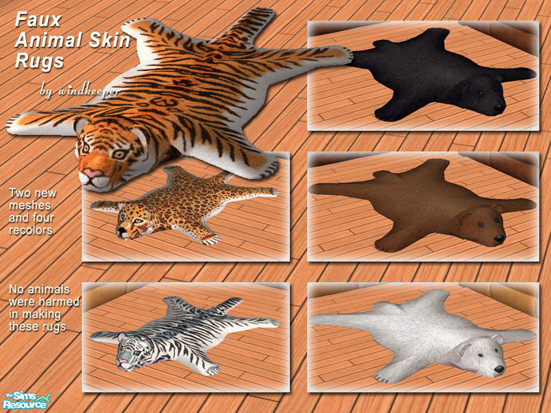 15 Delightful Faux Animal Skin Rugs Home Art Decor